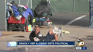 Deadly hep A crisis gets political - Video