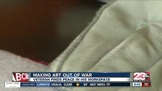Local vet creates art from war - Video
