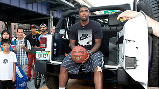 Kyrie Irving Left STRANDED on the Street After Jeep Breaks Down - Video