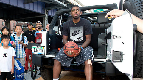Kyrie Irving Left STRANDED on the Street After Jeep Breaks Down