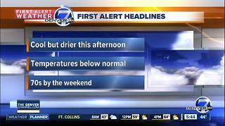 Tuesday forecast: Cool conditions to continue across Colorado - Video
