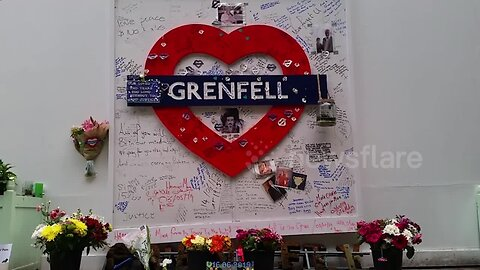 Tributes laid out on second anniversary of Grenfell Tower fire