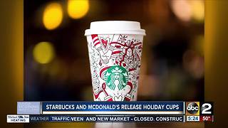 Starbucks and McDonald's release holiday cups - Video
