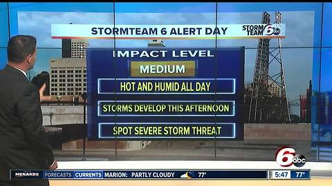 Alert: Another hot day, severe storms possible