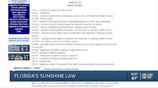 Florida's 'Sunshine Law' is vital to providing important information to public