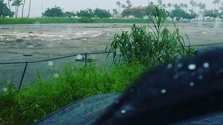 Hurricane Lane Floods Hilo Soccer Fields - Video