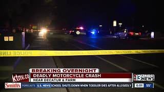Motorcyclist killed near Decatur and Farm - Video
