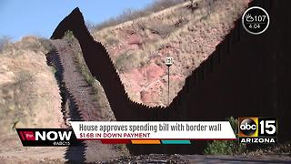 House approves spending bill on border wall