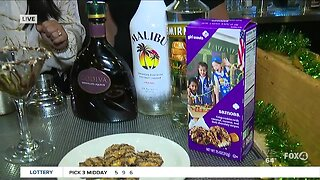 Samoa cookie cocktail on Girl Scouts' Birthday
