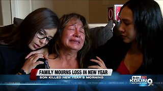 Family mourns loss of son killed New Year's morning