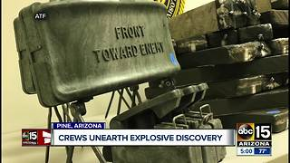 Military explosives found in Pine - Video