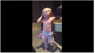 Hilarious Toddler Pretends To Talk On The Phone - Video