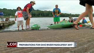 16th Annual Ohio River Paddlefest puts thousands of paddlers on the water this weekend - Video
