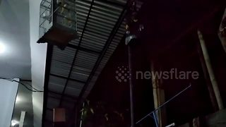 Scary moment earthquake rattles home in Bali - Video