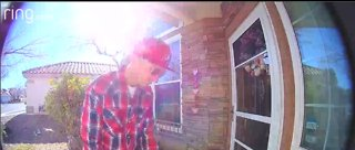 Mother says video shows thief stealing son's cancer medication off porch of Summerlin home