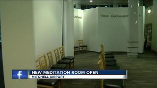 New meditation room inside Mitchell Airport open - Video