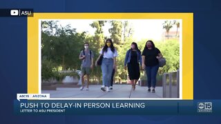 Letter to ASU president pushing to postpone in-person classes barricaded in home near 31st Avenue and Dunlap