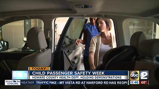 Howard Co. Health Department teaching parents how to buckle their kid safely - Video