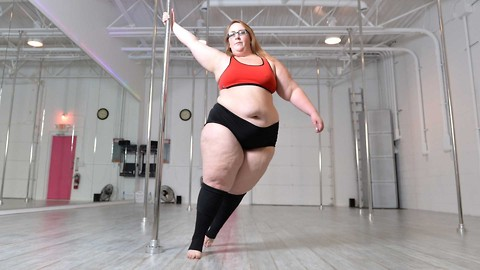 Plus-size Pole Dancer Is Beating Obesity One Spin At A Time