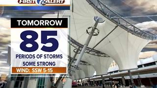 Storms could be strong Thursday