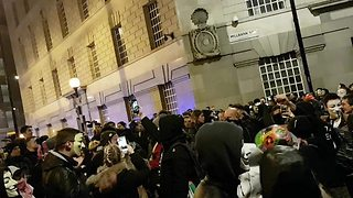 Guy Fawkes Protesters Stream Through Westminster During Million Mask March - Video
