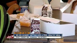'No Kid Hungry' getting kids a free, healthy meal - Video