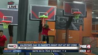 Valentines Day is Parents Night Out at Sky Zone Fort Myers - 8am live report - Video