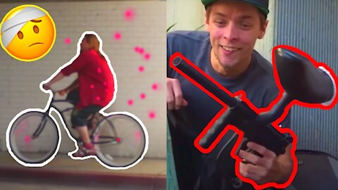 BAIT BIKE PRANK Paintball Edition