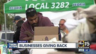 Peoria businesses come together to give back to community - Video