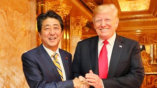 President Trump And Japanese PM Abe Meet Ahead Of UN General Assembly