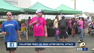 Volunteer finds his pride after brutal attack