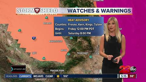 This weekend will be a hot one with hazy conditions in the valley
