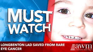 Longbenton lad saved from rare eye cancer after parents' chance sighting - Video