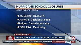 Hurricane Irma: Southwest Florida school closures