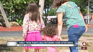 Family returns to Puerto Rico after Hurricane Maria - Video