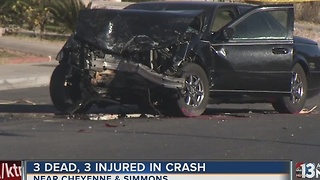 3 dead, 3 injured in North Las Vegas crash - Video