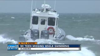 Bad weather hurts search for Wisconsin teen missing off Alabama beach - Video