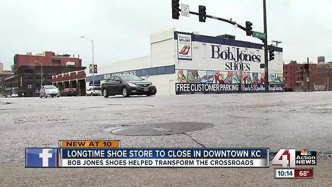 Crossroads shoe store Bob Jones Shoes closing