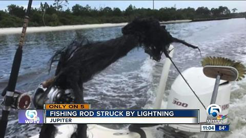 Lightning strikes boat off Jupiter, blows apart fishing rod