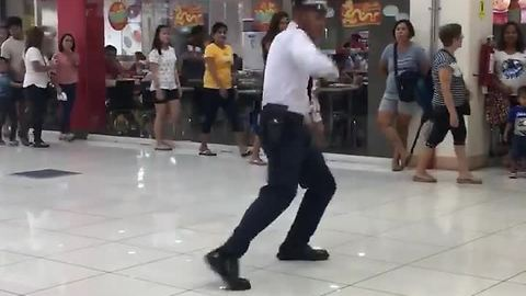 Mall Cop Entertains Shoppers With His Dance Moves