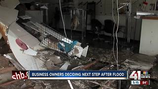 Business owners deciding next step after flood - Video