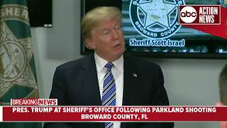 President Trump thanks Broward County Sheriff's Office - Video