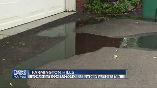 Woman says contractor caused driveway disaster - Video
