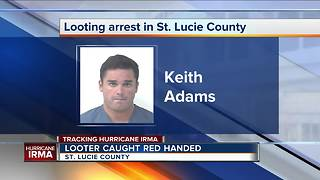 Keith Adams: Looter arrested in St. Lucie County - Video