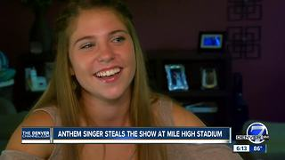 Colorado native Kayla Hruby rocked the national anthem ahead of Broncos' Monday Night Football game - Video