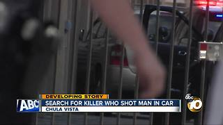 Search for killer who shot man in car - Video