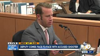 Deputy faces accused shooter in court - Video