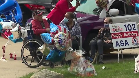 Local Tuskegee Airman honored with parade to celebrate 102nd birthday