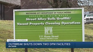Outbreak shuts down two DPW facilities