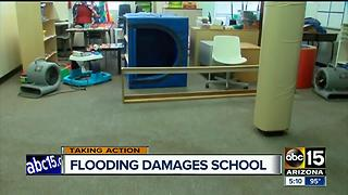Water leak damages Tempe non-profit special needs school - Video
